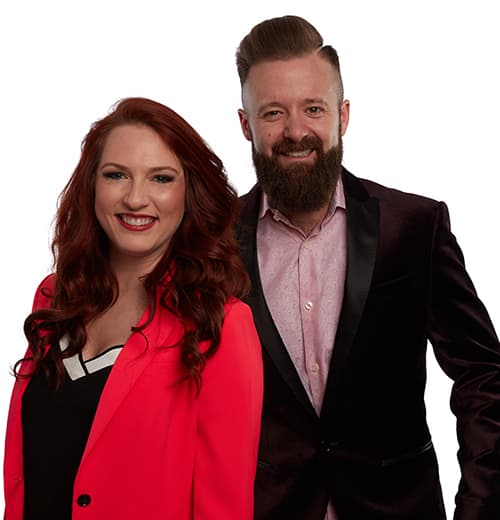 Tracy and Scott who can be hired to speaking at your next event