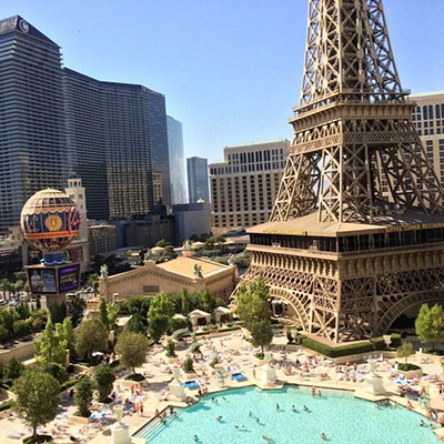 Outside view of Paris Hotel and Casino